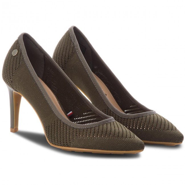High Heels TOMMY HILFIGER                                                      Tommy Knit Pointy Pump FW0FW02971  Dusty Olive 011 cdfaa4