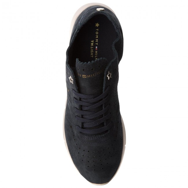 Sneakers TOMMY HILFIGER                                                      Nubuck Light Weight Sneaker FW0FW02986  Midnight 403 8ff98d