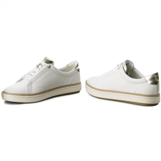 Sneakers TOMMY HILFIGER                                                    Leather City Sneaker FW0FW02991 White 100