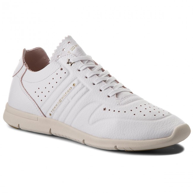 Sneakers TOMMY HILFIGER                                                      Leder Light Weight Sneaker FW0FW03017 Weiß 100 5271c6