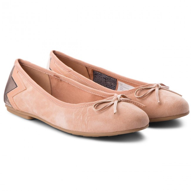 Ballerinas TOMMY HILFIGER                                                      Elevated Suede Ballerina FW0FW03036 Silky Nude 297 6d2f7d