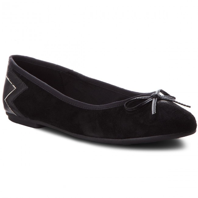 Ballerinas TOMMY HILFIGER Elevated Suede Ballerina FW0FW03036 Black 990