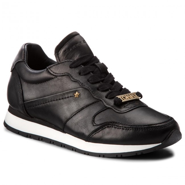 Sneakers TOMMY HILFIGER Leather Premium Sneaker FW0FW03385 Black 990