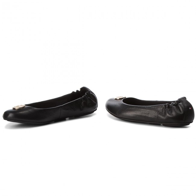 Ballerinas TOMMY HILFIGER - Flexible Ballerina Leather FW0FW03401 Tommy Navy 406 8J0dafdLm