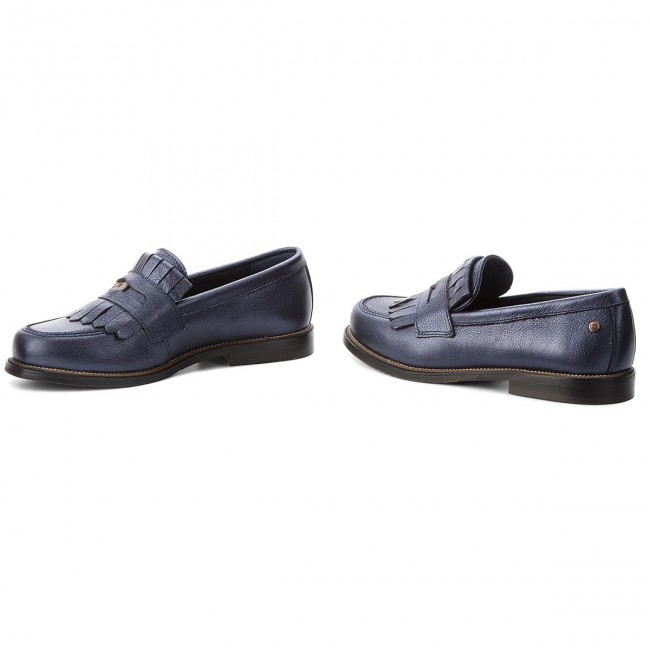 Halbschuhe TOMMY HILFIGER FW0FW03402 Metallic Leather Penny Loafer FW0FW03402 HILFIGER Tommy Navy 406 a9c1ce