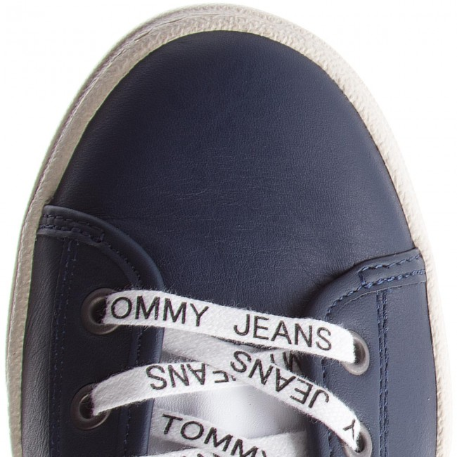 Sneakers TOMMY JEANS-Light Leather 431 Mid EM0EM00104 Black Iris 431 Leather 1b50d5