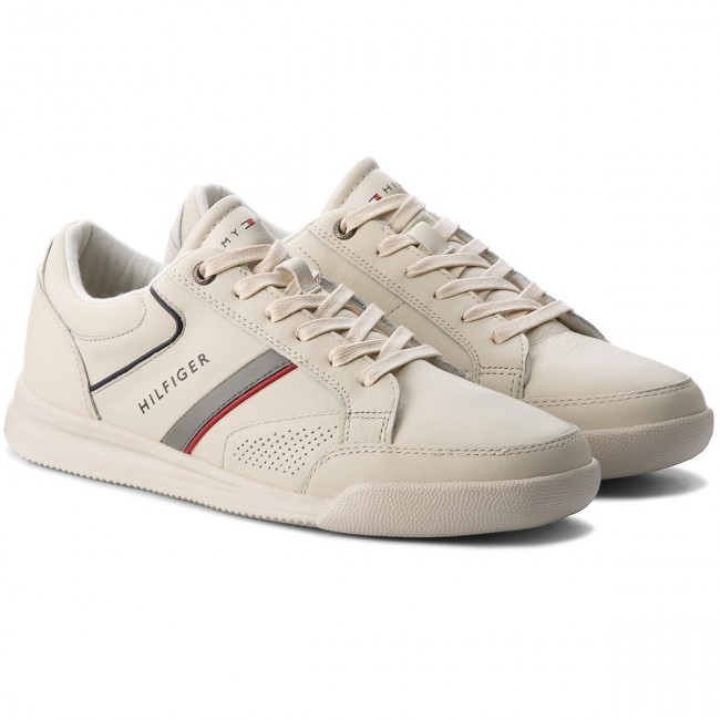 Sneakers TOMMY HILFIGER-Corporate Off Detail Leather Sneaker FM0FM01620 Off HILFIGER-Corporate White 156 f49fc3