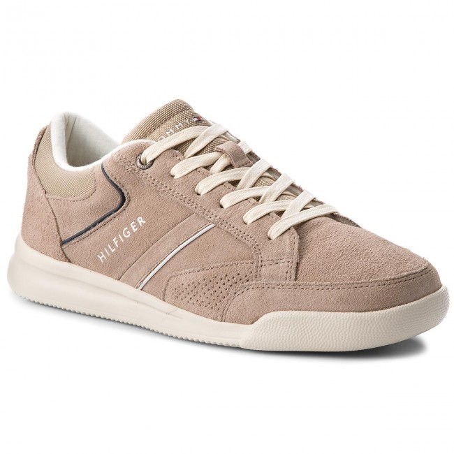 Sneakers TOMMY HILFIGER-Corporate Detail Suede Sneaker FM0FM01622 Taupe 255
