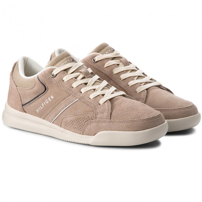 Sneakers TOMMY HILFIGER-Corporate Detail 255 Suede Sneaker FM0FM01622 Taupe 255 Detail d5a479