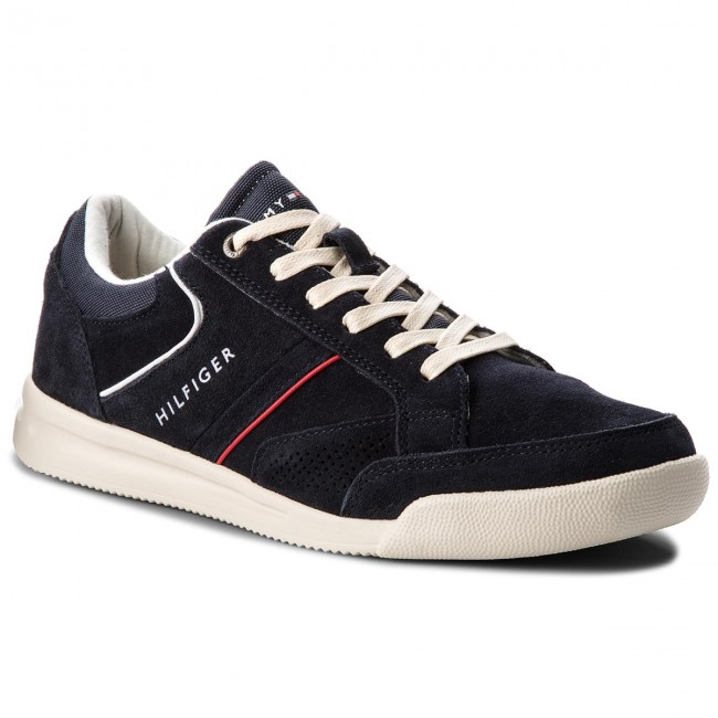 Sneakers Sneaker TOMMY HILFIGER-Corporate Detail Suede Sneaker Sneakers FM0FM01622  Midnight 403 024264