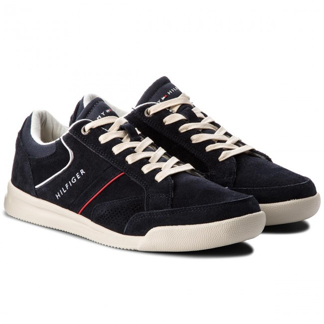 Sneakers Sneaker TOMMY HILFIGER-Corporate Detail Suede Sneaker Sneakers FM0FM01622  Midnight 403 22cb38