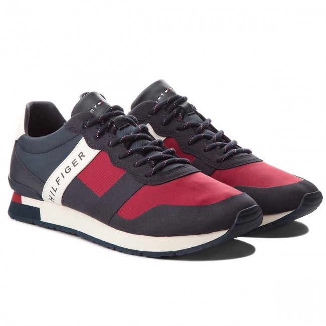 Sneakers Runner TOMMY HILFIGER-Printed Material Mix Runner Sneakers FM0FM01623 Rwb 020 27eeff
