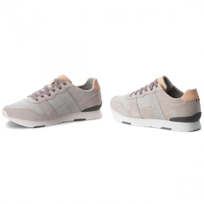 Sneakers Runner TOMMY HILFIGER-City Casual Material Mix Runner Sneakers FM0FM01624 Diamond Grau 001 82a9db
