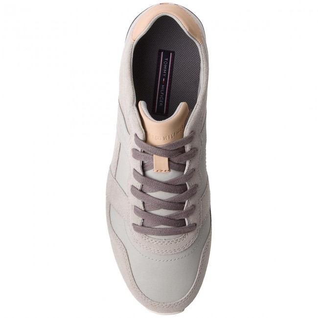 Sneakers TOMMY HILFIGER-City Casual Material Grau Mix Runner FM0FM01624 Diamond Grau Material 001 8075e8