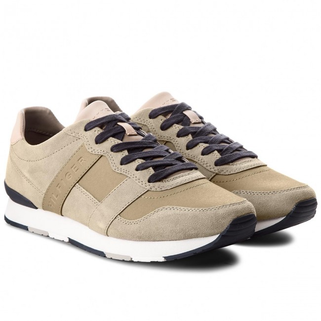 Sneakers TOMMY Runner HILFIGER-City Casual Material Mix Runner TOMMY FM0FM01624  Taupe 255 548a25