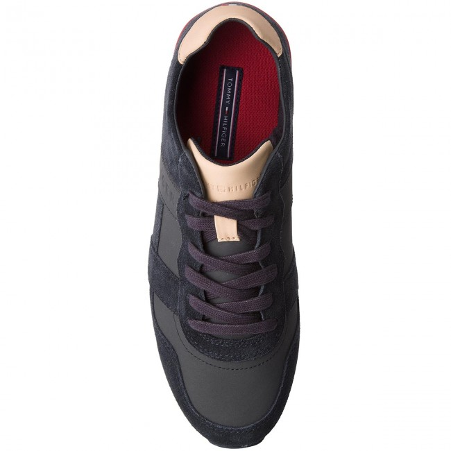 Sneakers TOMMY HILFIGER-City Casual  Material Mix Runner FM0FM01624  Casual Midnight 403 3f7888
