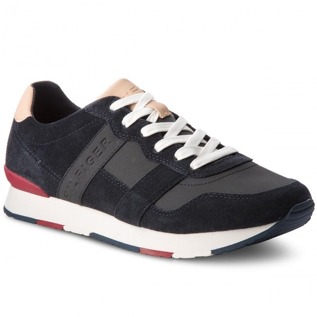 Sneakers TOMMY HILFIGER-City Casual  Material Mix Runner FM0FM01624  Casual Midnight 403 a1426a