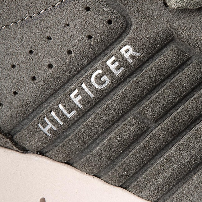 Sneakers TOMMY HILFIGER-Unlined Th  Light Suede Runner FM0FM01631  Th Dusty Olive 011 4d0817