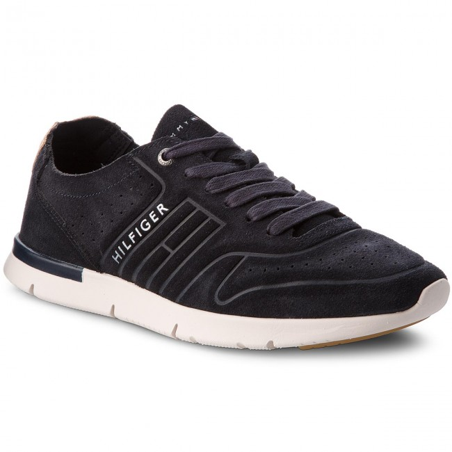 Sneakers TOMMY HILFIGER-Unlined Th Light Suede Runner FM0FM01631  Midnight 403
