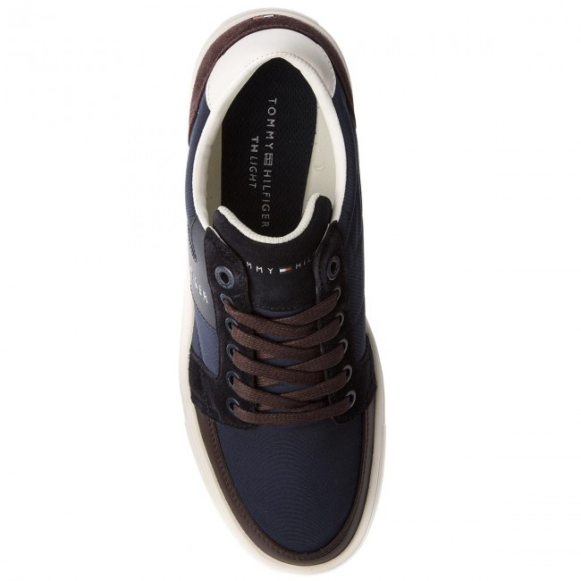 Sneakers TOMMY HILFIGER-Lightweight Color Block Low Cut FM0FM01635 Midnight/Coffeebean 901