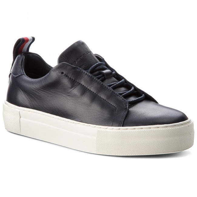 Sneakers TOMMY HILFIGER-Fashion Suede Lace Up Cupsole FM0FM01637 Midnight 403