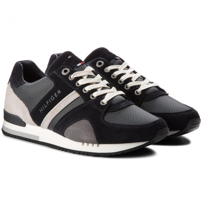 Sneakers Casual TOMMY HILFIGER-New Iconic Casual Sneakers Runner FM0FM01640 Midnight 403 1abf09