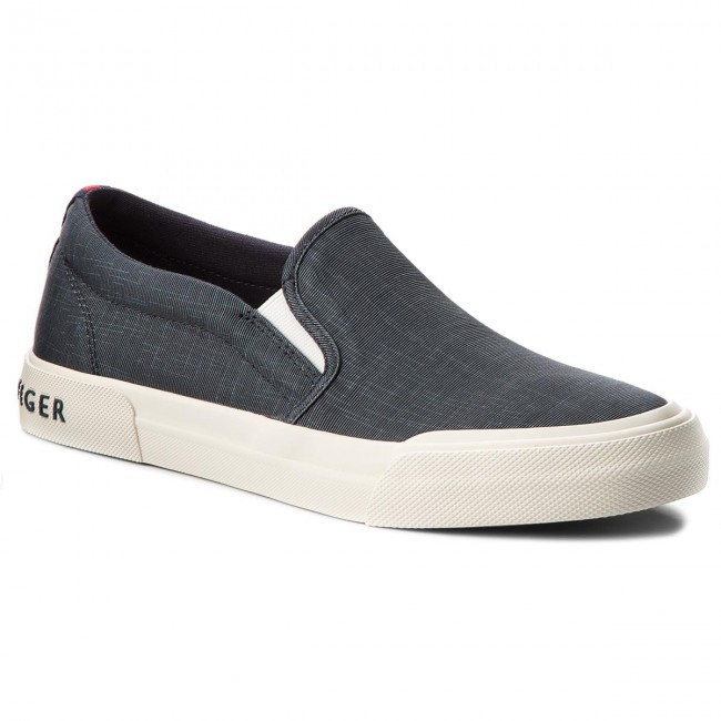 Turnschuhe TOMMY HILFIGER-Heritage Washed Canvas Canvas Canvas Slip On FM0FM01657 Midnight 403 2e1ef8