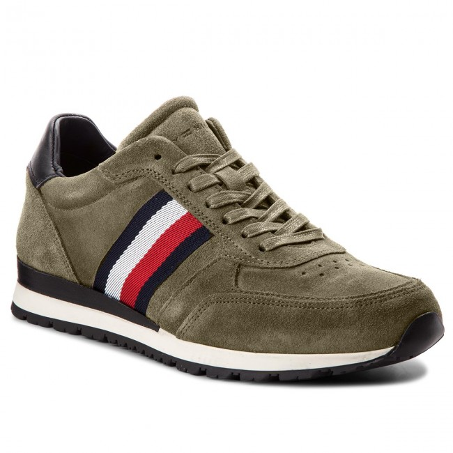 Sneakers TOMMY HILFIGER-Luxury Suede Runner FM0FM01815 Dusty Olive 011
