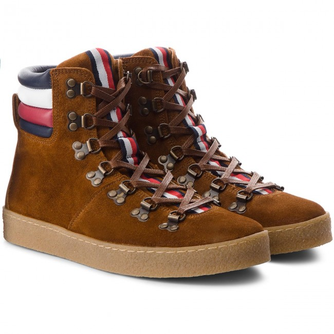 Stiefel TOMMY Boot HILFIGER-Crepe Outsole Hiking Hybrid Boot TOMMY FM0FM01918 Cognac 606 ab5662