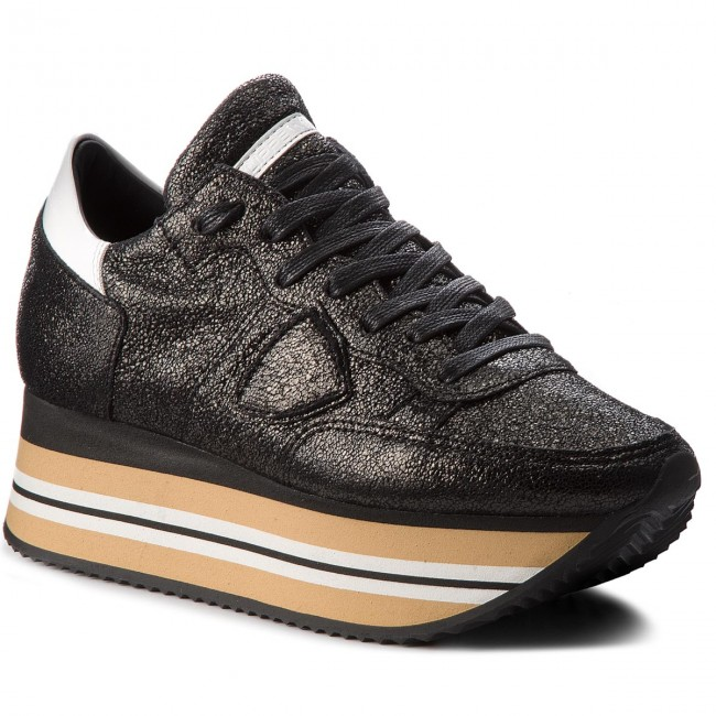 Sneakers PHILIPPE MODEL Eiffel EILD MM19 Metal Noir