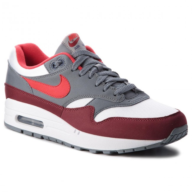 Schuhe NIKE-Air Max 1 AH8145 100 White/University Red/Cool Grey
