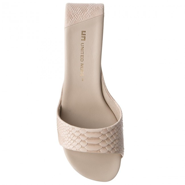 Pantoletten UNITED NUDE-Mobius Werbe Mid 10003103106 Ivory Werbe NUDE-Mobius Schuhe e9f199
