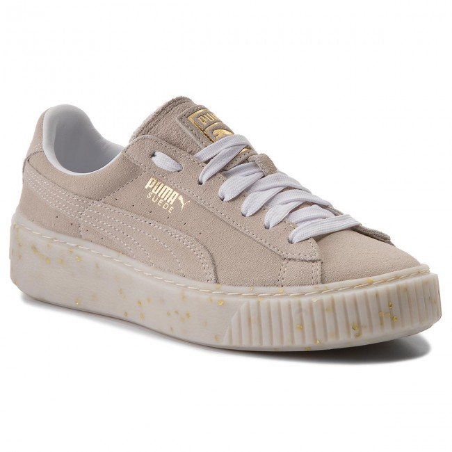 Sneakers PUMA                                                    Suede Platform Celebrate 365621 02 Puma White/Puma Team Gold