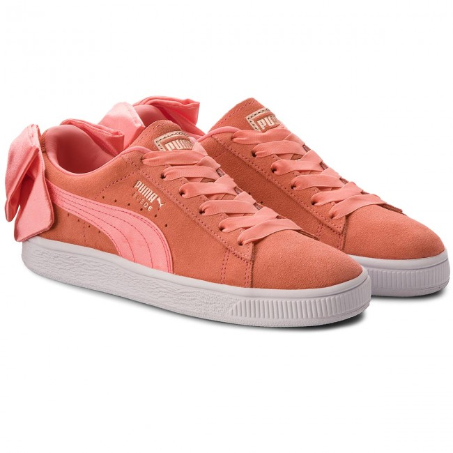 Sneakers PUMA                                                      Suede Bow Jr 367316 01 Shell Pink/Shell Pink c386d6
