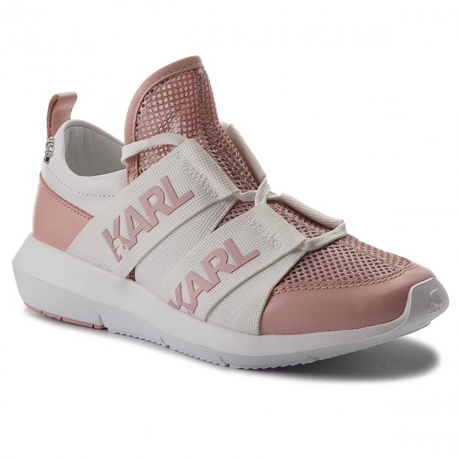 Sneakers KARL LAGERFELD KL61120 Silver/Pink Hohe Qualität