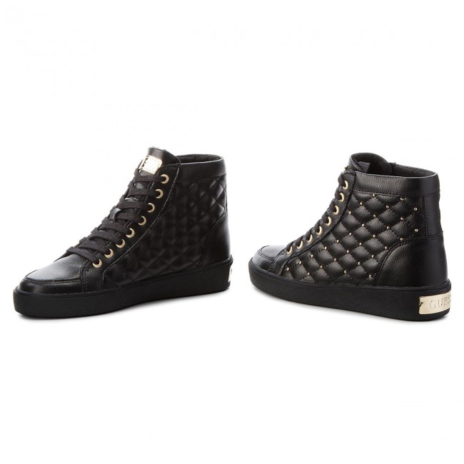 Sneakers GUESS FLACE3 LEA12 BLACK Hohe Qualität