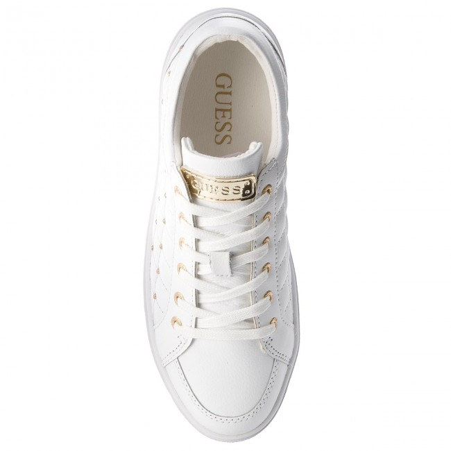 Sneakers GUESS FLGLN3 LEA12 WHITE Hohe Qualität