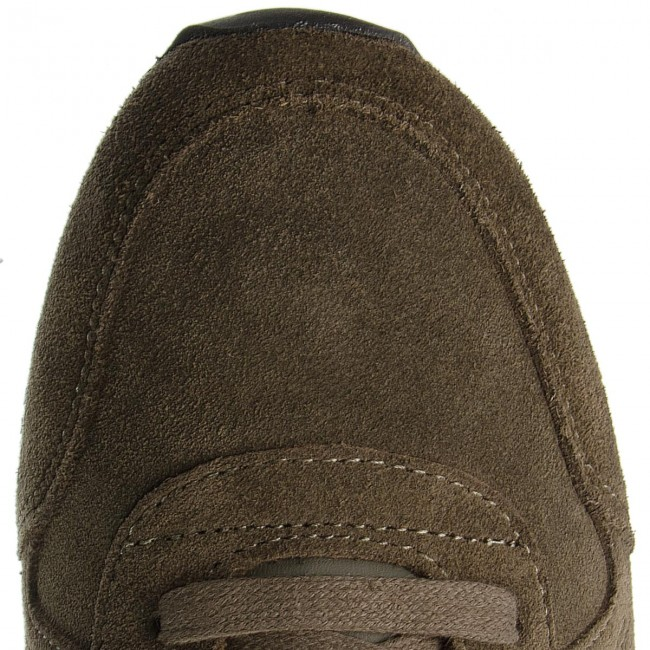 Sneakers TOMMY HILFIGER-Iconic Suede Textile FM0FM01731 Olive Night 010