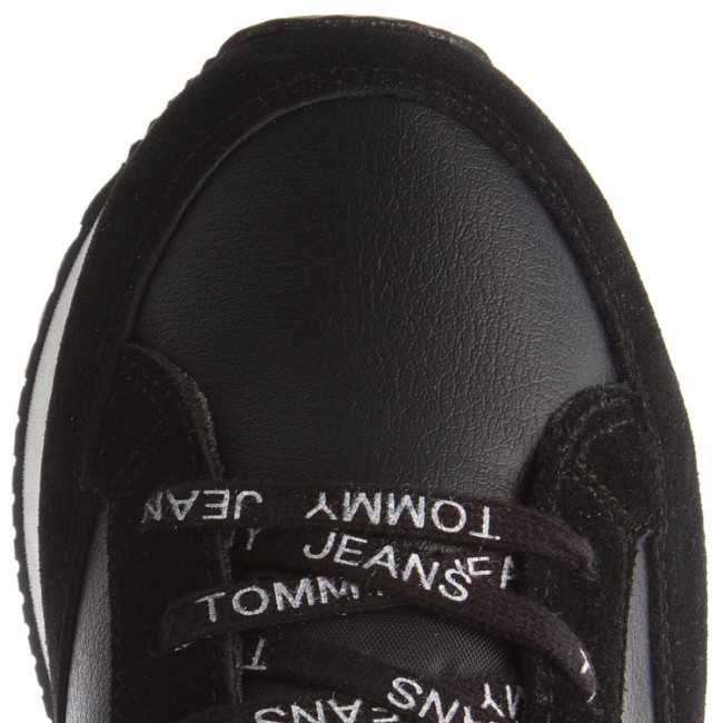 Sneakers TOMMY JEANS-Casual Retro Sneaker EM0EM00112 Ice Black 913
