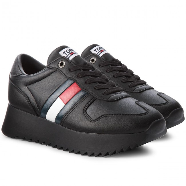 Sneakers TOMMY JEANS                                                      High Cleated Sneaker EN0EN00288 schwarz 990 82839a