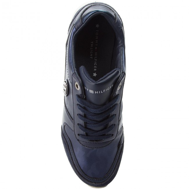 Sneakers TOMMY HILFIGER                                                      Camo Metallic Light Sneaker FW0FW03231 Tommy Navy 406 01e04d