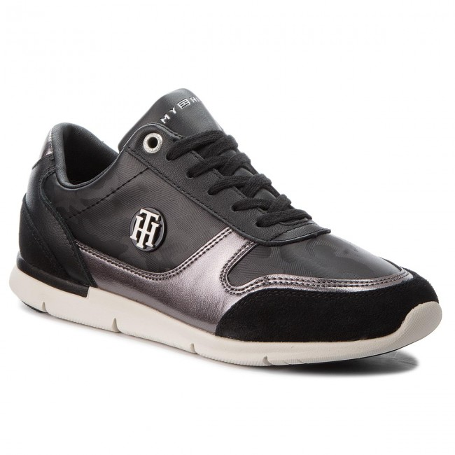 Sneakers TOMMY HILFIGER                                                      Camo Metallic Light Sneaker FW0FW03231 schwarz 990 488650