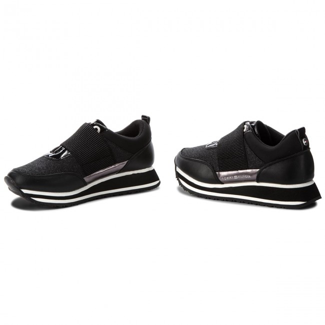 Sneakers TOMMY HILFIGER                                                      Elastic Retro Runner FW0FW03336 schwarz 990 32e716