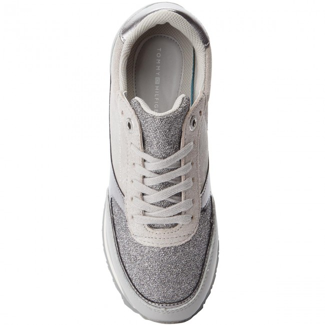 Sneakers TOMMY HILFIGER                                                      Metallic Retro Runner FW0FW03337 Diamond Grey 001 0b224e