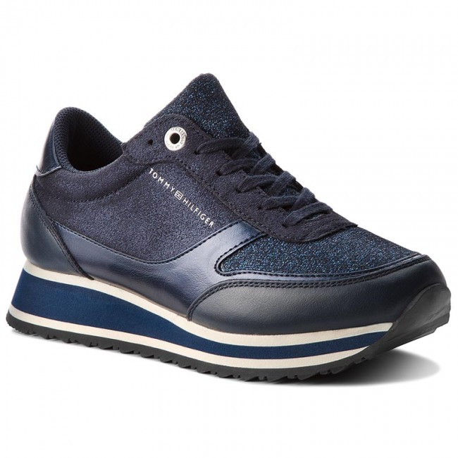 Sneakers  TOMMY HILFIGER    Sneakers                                                 Metallic Retro Runner FW0FW03337 Midnight 403 efcaf9