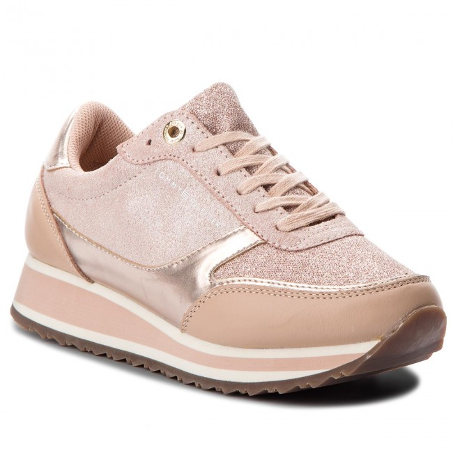 Sneakers TOMMY HILFIGER                                                      Metallic Retro Runner FW0FW03337  Mahogany Rose 641 75abe4