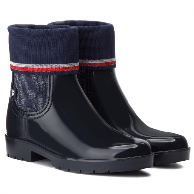 Gummistiefel TOMMY HILFIGER  Midnight Knitted Sock Rain Bo FW0FW03565 Midnight  403 c35ba7