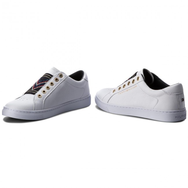 Sneakers TOMMY  HILFIGER     TOMMY                                                Stud Elastic Essential Sneaker FW0FW03592 Weiß 100 c57e10