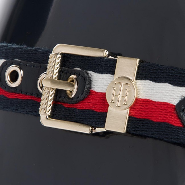 Gummistiefel TOMMY  HILFIGER     TOMMY                                                Corporate Belt Long FW0FW03601 Midnight 403 572db2