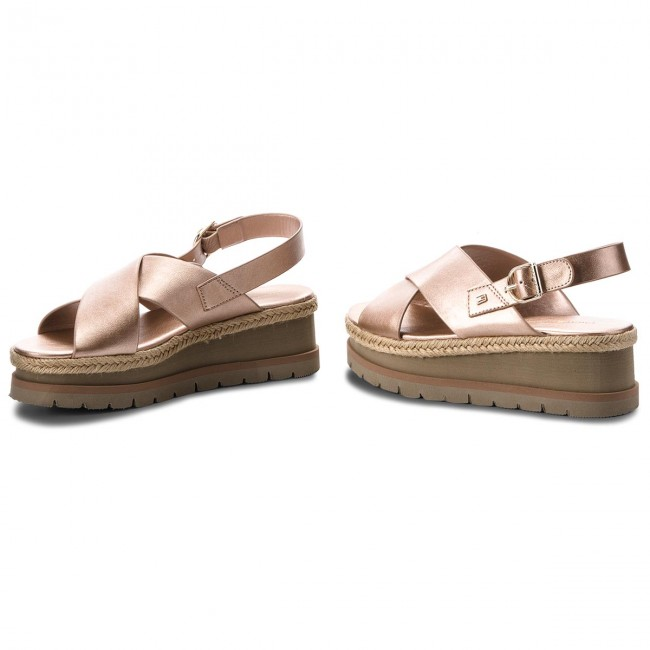 Espadrilles TOMMY  HILFIGER     TOMMY                                                Flatform Criss Cross FW0FW03351 Dusty Rose 502 bb726d